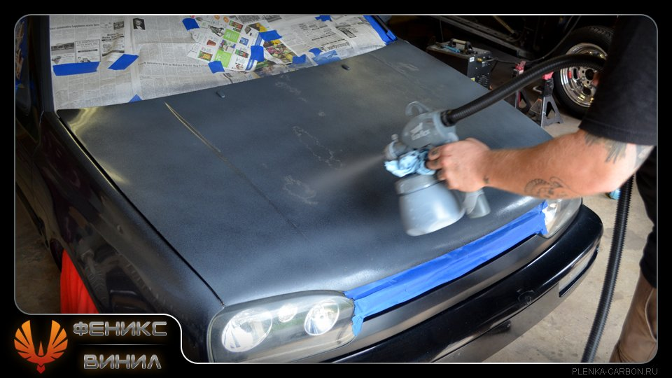Полная покраска авто из баллончика своими руками